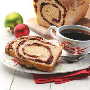 Cranberry-Swirl Cornmeal Loaves Recipe