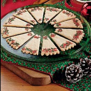 Christmas Shortbread Wreaths Recipe