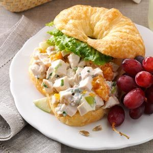 Chicken Croissant Sandwiches Recipe