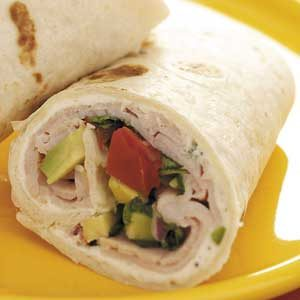 Avocado Smoked Turkey Wraps Recipe