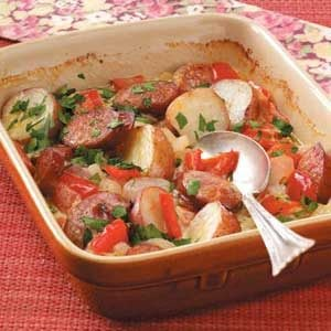 Kielbasa and Pepper Casserole Recipe
