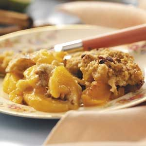 Lime 'n' Spice Peach Cobbler