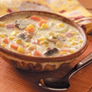 Mushroom Corn Chowder Recipe
