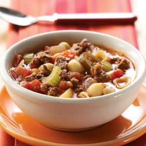 Zesty Hamburger Vegetable Soup Recipe