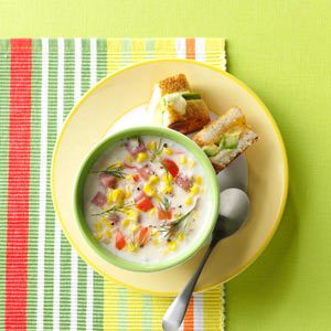 Creamy Ham & Corn Soup Recipe