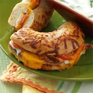 Chicken Bagel Melts Recipe