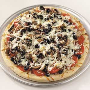 Bacon-Olive Tomato Pizza
