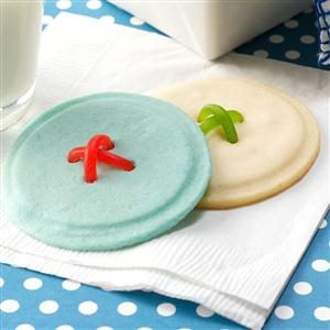 Crisp Button Cookies Recipe