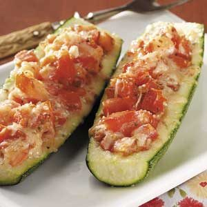 Tomato Stuffed Zucchini Recipe