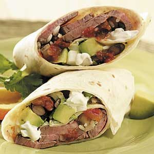 Steak and Black Bean Burritos Recipe