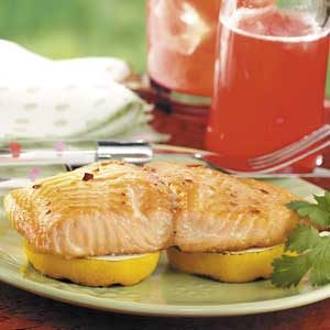 Lemony Grilled Salmon Recipe