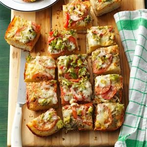 Vegetable & Cheese Focaccia Recipe