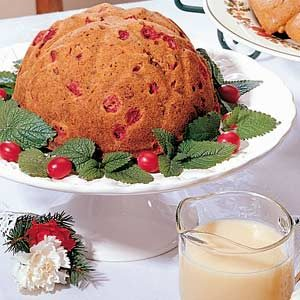 Steamed Cranberry Pudding with Hard Sauce Recipe