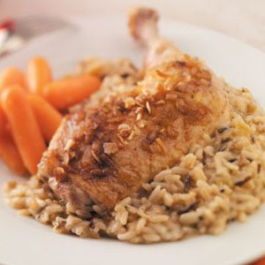 Golden Chicken with Rice