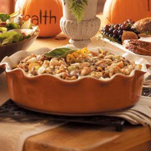 Apple-Walnut Sausage Stuffing Recipe