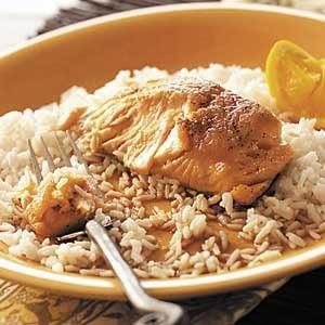 Orange Salmon with Rice Recipe