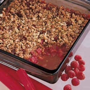 Rhubarb Raspberry Crisp Recipe