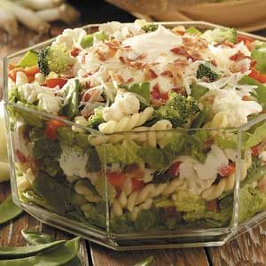 Layered Summertime Salad Recipe
