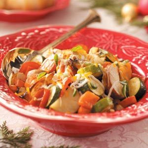 Cheese-Topped Roasted Vegetables