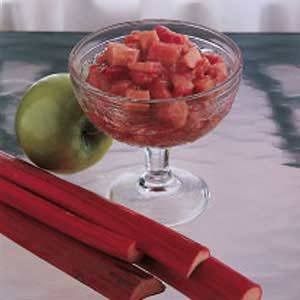 Chunky Rhubarb Applesauce Recipe