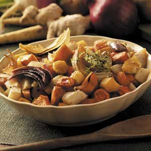 Maple-Gingerroot Vegetables
