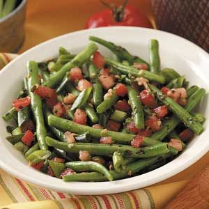 Herbed Tomatoes 'n' Green Beans Recipe