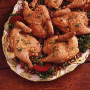 Cornish Hens with Wild Rice Recipe