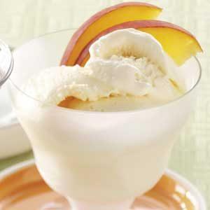 Rich Peach Ice Cream