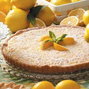 Tangy Lemon-Nut Tart Recipe