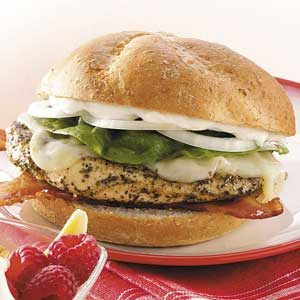Bacon-Provolone Chicken Sandwiches Recipe