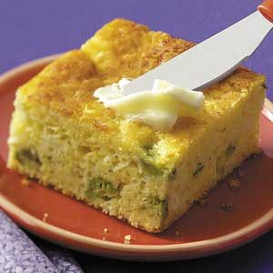 Corn Bread with Broccoli and Cheese