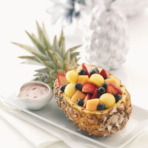Fruit Salad in a Pineapple Boat Recipe