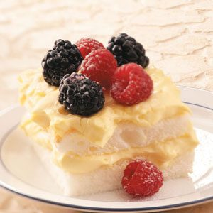 Double Berry Lemon Dessert Recipe