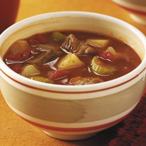 Beef and Sausage Soup Recipe
