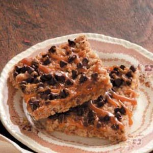Caramel-Chocolate Crunch Bars Recipe