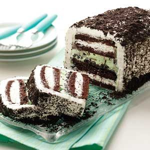 Mint-Chocolate Ice Cream Cake Recipe