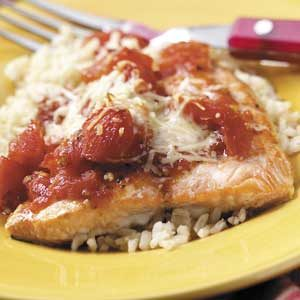 Tomato Salmon Bake Recipe