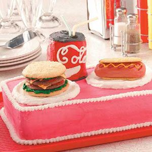 Burger 'n' Hot Dog Cake Recipe