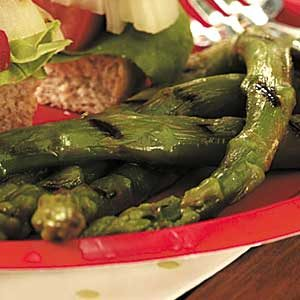 Asparagus with Mustard Vinaigrette Recipe