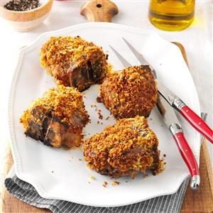 Caribbean Chutney-Crusted Chops Recipe