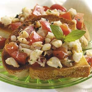 Crab Bruschetta Recipe