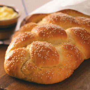 Golden Braided Sesame Bread