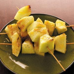 Ginger-Glazed Grilled Honeydew