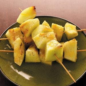 Ginger-Glazed Grilled Honeydew Recipe