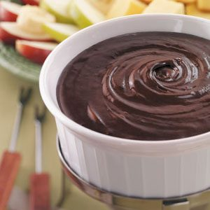 Double Chocolate Fondue Recipe