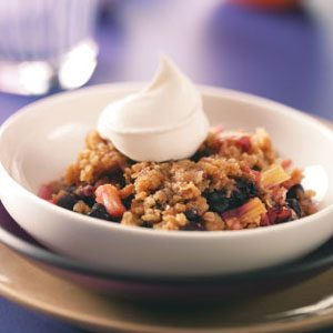 Blueberry-Rhubarb Crumble Recipe