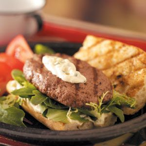 French Tarragon Burgers Recipe