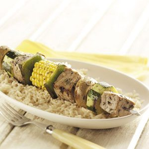 Tuna Veggie Kabobs Recipe
