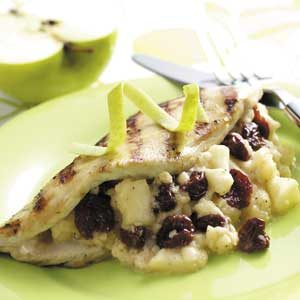 Fontina-Fruit Chicken Breasts