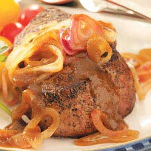 Steaks with Shallot Sauce Recipe